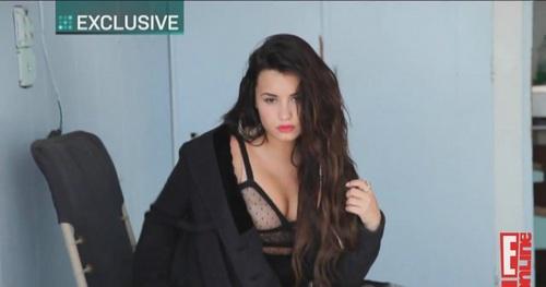Demi - E Online - Behind The Scenes (Elle)