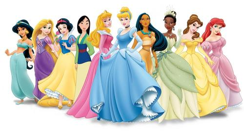 disney Princess Lineup with Rapunzel