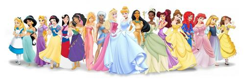 Disney Princess kertas dinding called Disney Royal and Non-Royal Heroines Line-Up