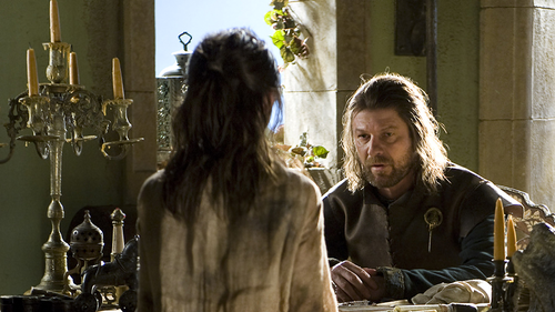 Eddard and Arya Stark