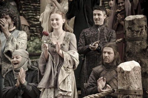 Eddard and Sansa Stark