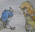 Fabia VS Alice_ninja fight made by me