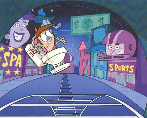 Fairly Odd Parents Production Cel