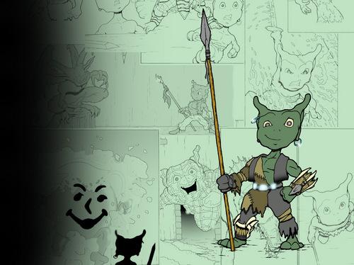 Goblins karatasi la kupamba ukuta
