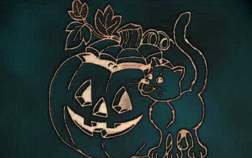 Halloween wallpaper probably containing a sign called Happy Halloween