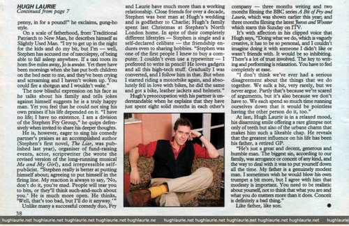 Hugh Laurie 1992 interview - Women´s Weekly