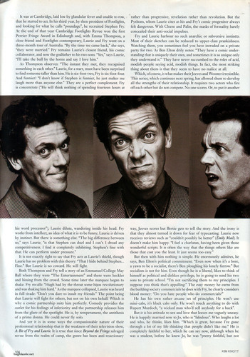 Hugh Laurie wallpaper containing a newspaper called Hugh Laurie GQ Magazine 1992 Interview