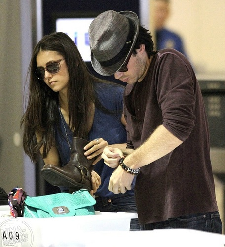 Ian and Nina at the airport in LA