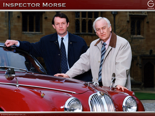 Inspector Morse, Sergeant Lewis, and the Jag