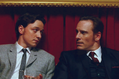 James McAvoy and Michael Fassbender wallpaper containing a business suit and a suit titled James & Michael