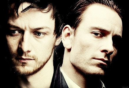 James McAvoy and Michael Fassbender wallpaper containing a portrait called James & Michael