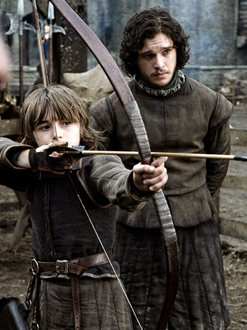 Jon Snow and Bran Stark