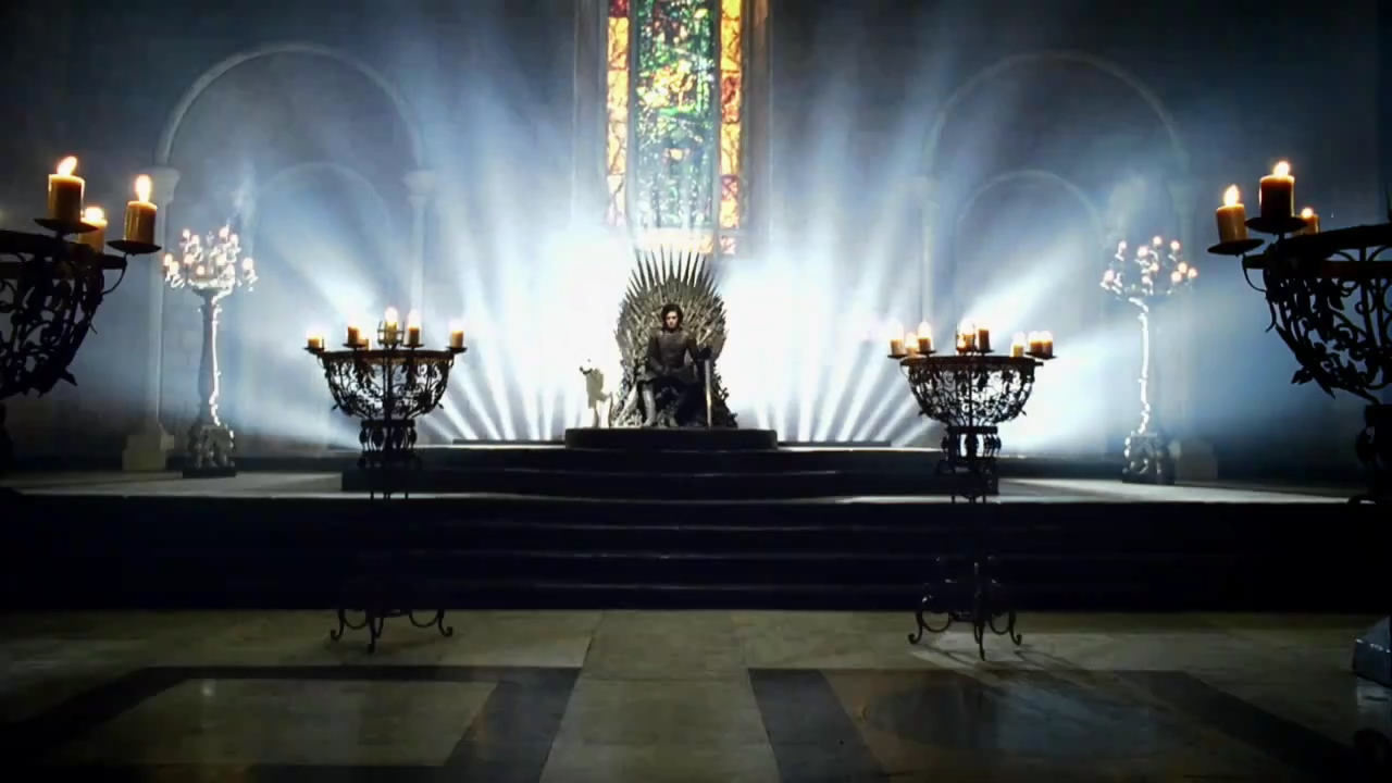 Jon Snow on Iron trono