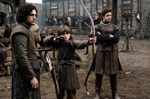 Jon Snow with Bran and Robb Stark