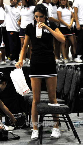 Kendall and Kylie Jenner at a Cheerleading Camp in Ontario
