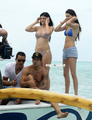 Kendall and Kylie Jenner in a Bikini during Holidays in Bora Bora - kendall-jenner photo