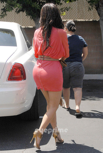 Kim Kardashian grabs something to eat before heading to work in Studio City, August 9