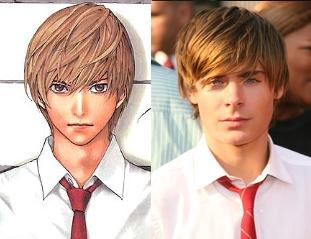 Light Yagami and Zac Efron