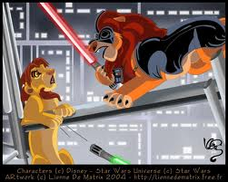 Lion King Simba & Mufasa star, sterne Wars