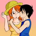 Luffy Kisses Nami