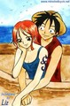 Luffy and Nami - luffyxnami photo