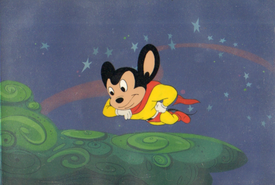 Mighty Mouse Production Cel Classic Cartoons Photo