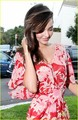Miranda Kerr is red hot in a floral printed maxi dress while out on Monday (August 8
