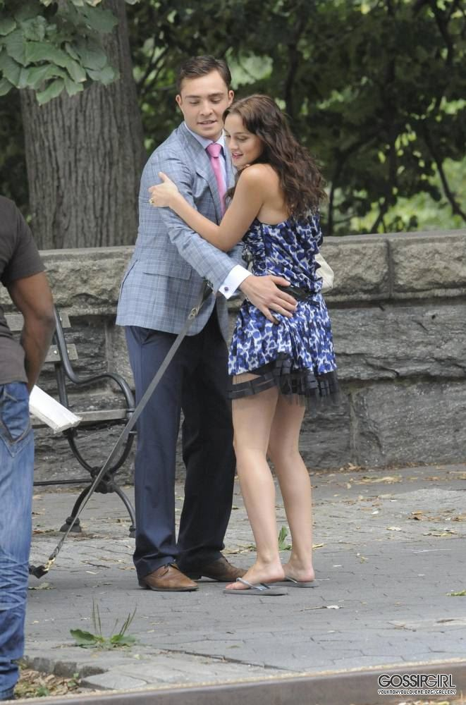 More of Ed and Leighton on set - August 9th, 2011