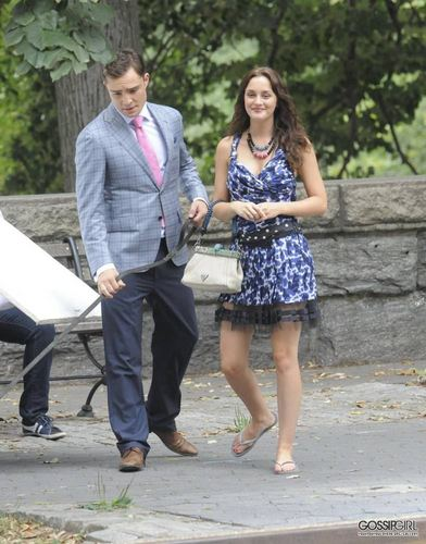 zaidi of Ed and Leighton on set - August 9th, 2011