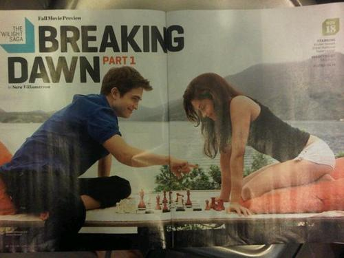New Entertainment Weekly scans of Edward and Bella in Breaking Dawn!
