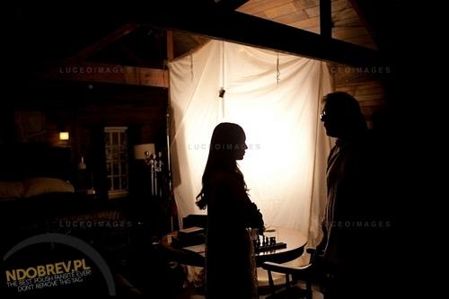 Nina behind the scenes of TVD season 3!