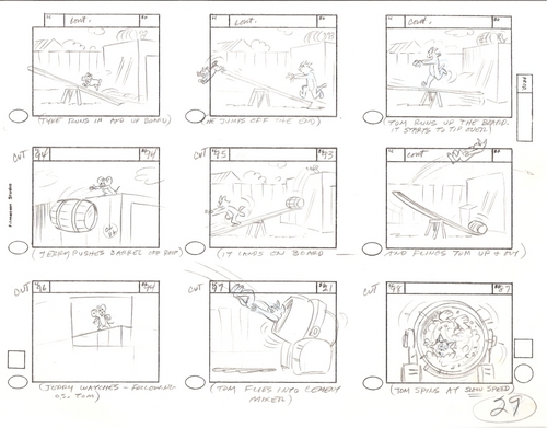 Tom and Jerry wallpaper titled Original Hand Drawn Tom & Jerry Production Storyboard