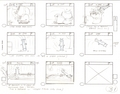 Original Hand Drawn Tom & Jerry Production Storyboard