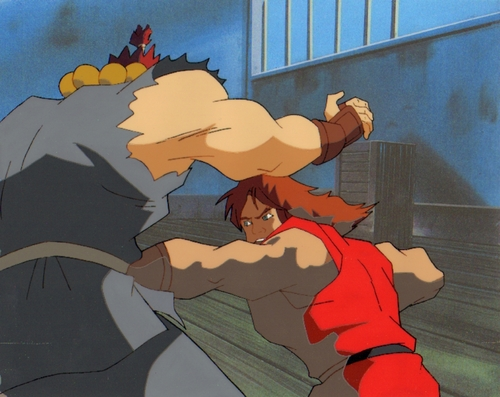Original Hand Painted đường phố, street Fighter Production Cel