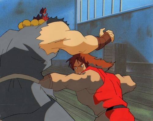 Original Hand Painted 通り, ストリート Fighter Production Cel