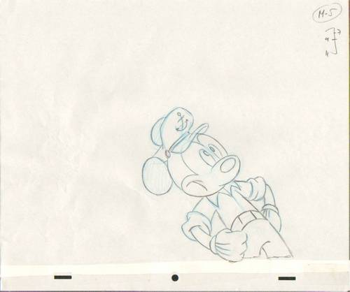 Original Mickey souris Production Drawing