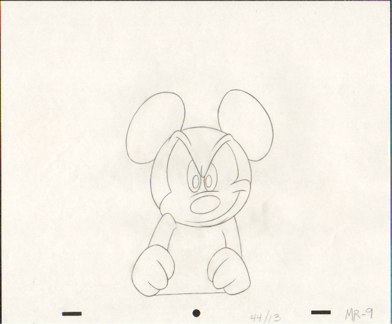 Original Mickey 老鼠, 鼠标 Production Drawing