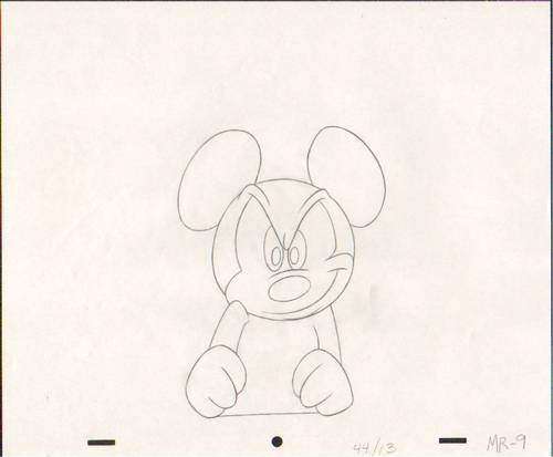 Original Mickey tetikus Production Drawing