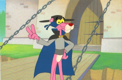 Pink Panther Cartoons wallpaper titled Original Pink Panther Production Cel