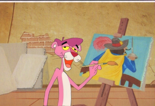 Pink Panther Cartoons wallpaper entitled Original Pink Panther Production Cel