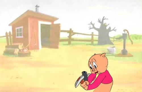 Original Porky Pig Production Cel