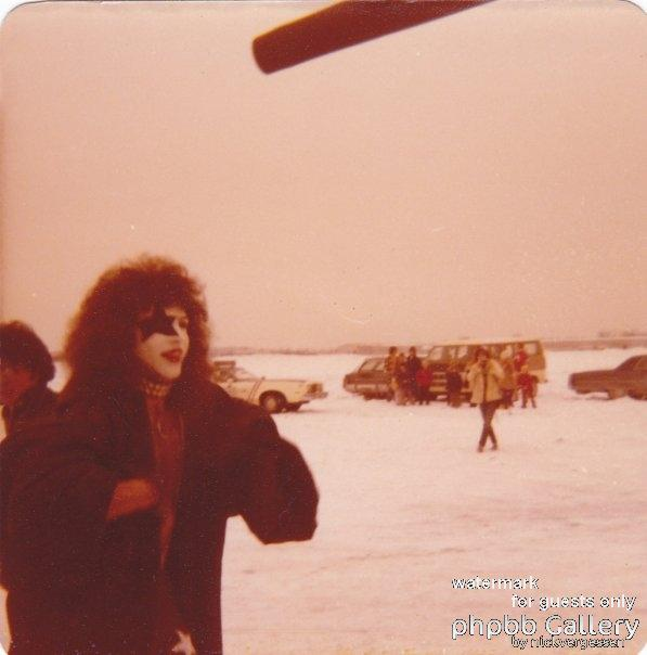 Paul at Detroit Airport, 1976