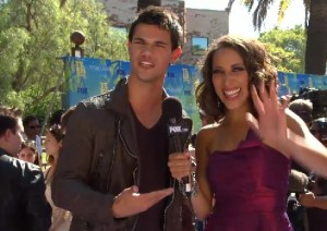photo of Taylor Lautner Being Interviewed at the TCAs