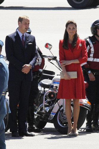 Prince William and Kate Middleton at Calgary International Airport