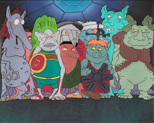 Real Ghostbusters animatie Production Cel