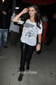 Rebecca Black leaving Boa in some tight-fitting wet look leggings, Aug 10 - rebecca-black photo