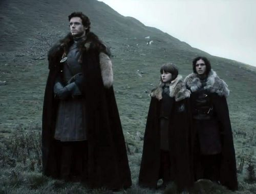Robb and Bran Stark with Jon Snow