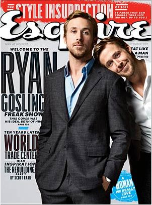 Ryan gosling karatasi la kupamba ukuta with a business suit and anime entitled Ryan gosling Esquire photoshoot