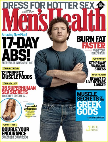 Sam Worthington Covers 'Men's Health' September 2011