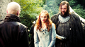 Sansa Stark with Sandor Clegane and Ilyn Payne